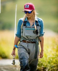 Fly Fishing Net, Gone Fishing, Fishing Adventure, Fishing Outfits, Lifestyle, Lady, Women, Bib Overalls, Woman