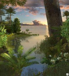 Australian Museum Early Cretaceous plant community, for Australian Museum, by Karen Carr and Karen Carr Studio, Inc.