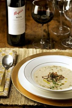 Parsnip Soup with Crispy Shallots and Porcini Mushrooms — Chef Marcus Samuelsson Dried Mushrooms, Porcini Mushrooms, Stuffed Mushrooms, Stuffed Peppers, Mushroom Stock, Soup Recipes, Cooking Recipes, Parsnip Soup, Gourmet