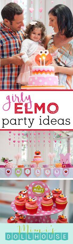 Elmo Party: Miley's Pretty Pink Elmo Party | Mimi's Dollhouse