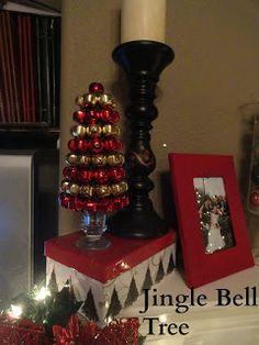 DIY Dollar Store Jingle Bell Cone Tree