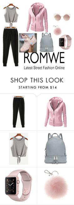 """black pants"" by naida-213 ❤ liked on Polyvore featuring MICHAEL Michael Kors, adidas and MANGO"