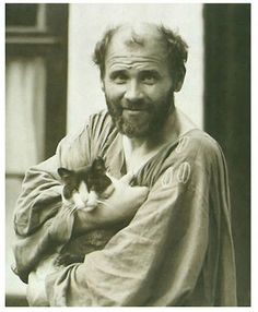 101 years ago on this day, artist Gustav Klimt died of pneumonia in Vienna, Austria. Klimt was an Austrian symbolist painter and the leader of the Vienna Secession movement. He is known for his. Gustav Klimt, Art Klimt, Famous Artists, Great Artists, Vienna Secession, Cat People, Pablo Picasso, Art History, Famous People