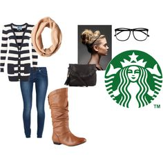 """""""Starbucks!"""" by oliviawright on Polyvore"""