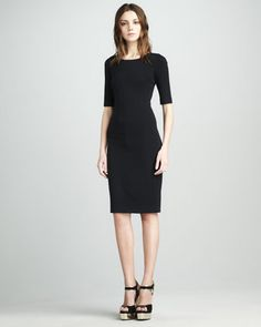Comfortable Little Black Dress: Messon Half-Sleeve Dress by Diane von Furstenberg at Neiman Marcus.