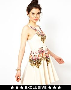 Ginger Fizz Prom Dress In From Paris With Love Print