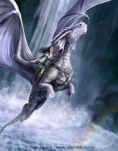 Fantasy Anime, Fantasy World, Dragon Medieval, Dragon Oriental, Arte Game Of Thrones, Anne Stokes, Dragon Girl, Dragon Heart, Pet Dragon