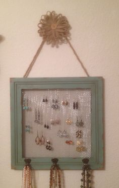 I bought this to organize earrings I wear regularly. This would be soooo easy to make.