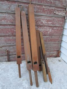 EARLY 1900'S Lot of 7 Organ Pipes flutes Wood by Holliezhobbiez