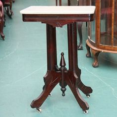 Victorian Marble Top Table. My Parents Had A Marble Top Almost Identical To  This One..Oh How I Hated Dusting The Wood Base! | Pinterest | Marble Top  Table, ...