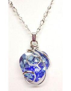 colgante corazón en cristal de swarosky, realmente espectacular, en kunsento.com