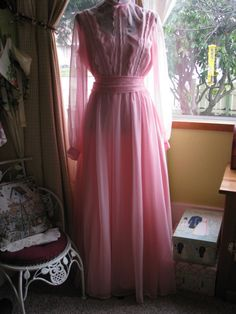 Pretty in  Pink Victorian Dress Chiffon and by BringingSexyBack, $29.95