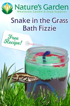 Free Snake in the Grass Bath Fizzie Recipe by Natures Garden