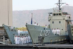 Naval History, Us History, Australian Defence Force, Royal Australian Navy, Landing Craft, Labuan, Navy Man, Floating In Water, Armada