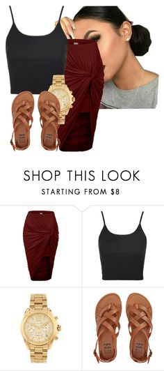"""""""aye okay"""" by gvlden-bvbx ❤ liked on Polyvore featuring LE3NO, Topshop, Michael Kors and Billabong"""