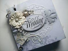 Wedding Scrapbook Mini Album w/Pocket Pages by ljbminis2021, $15.99