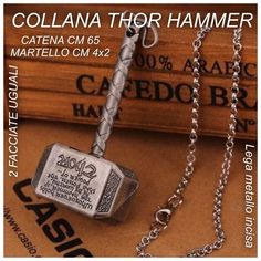 COLLANA THOR THE DARK WORLD HAMMER LEGA DI METALLO 3,50€
