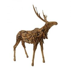 GO Home Vintage Farmhouse Driftwood Rudolph | Pure Home