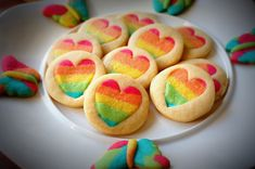 Rainbow cookies - Galletas arco iris m