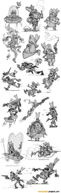 RHEMREV.COM | Visual development: Cowboy pensketches