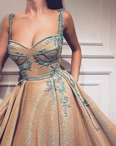 28 Prom Dresses That Will Make You The Prom Queen - Spaghetti strap ball gown dress #promdress #dress