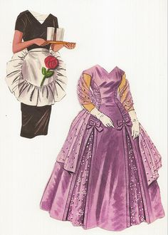 Bride's Clothes - Early 60s English paper dolls.
