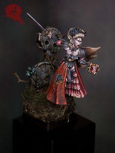 Isabella von Carstein Vampire #warhammer #whfb #fantasy #battle #aos #ageofsigmar #sigmar #gw #gamesworkshop #wellofeternity #miniatures #wargaming #hobby #vc #undead #vampire