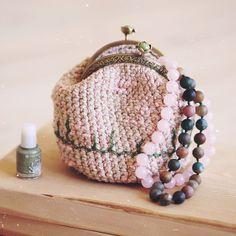 Crochet cosmetic bag