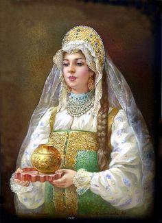 Kokoshnik - traditional Russian Head-dresses