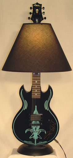 Dan Leap Designed Rock Star Guitar Lamp More like this at: http://livelikearockstar.us/?page_id=385