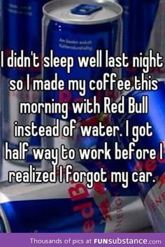 Made my cofee with redbull