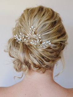 Bridal Hair Accessories Bridal Hair Pins by RoslynHarrisDesigns, $51.00 Wedding inspiration and ideas here: www.weddingideastips.com