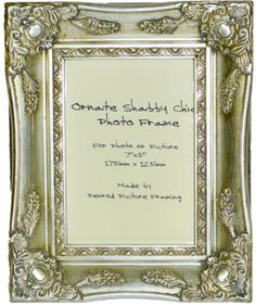 eb850fba261 Antique Silver Shabby Chic Ornate Swept Vintage Picture Frame For a 7
