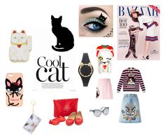 """""""Cool Cat Style..**"""" by yagna ❤ liked on Polyvore featuring Georgia Perry, Charlotte Olympia, Gucci, MSGM, Ermanno Scervino, THEATRE PRODUCTS, Dsquared2, Kate Spade, 3.1 Phillip Lim and vintage"""