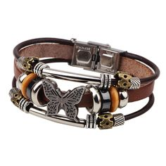 >> Click to Buy << ER 2016 Vintage Women Genuine Leather Bracelet Femme Charm Butterfly Wrap Braclet Puseira Cheap Jewelry Accessories LB107 #Affiliate
