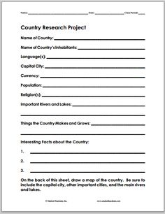 Country and culture research