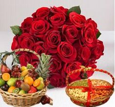 This Gift Hamper Consists of Bouquet, Fruits and Dry Fruit Box Which Suits To Your Elder Ones and Make Them Happy And Respectable Through our Shop2Rajahmundry. We do Deliver Midnight and Sameday Deliveries