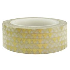 Wrapables Colorful Patterns Japanese Washi Masking Tape, Golden Pyramids