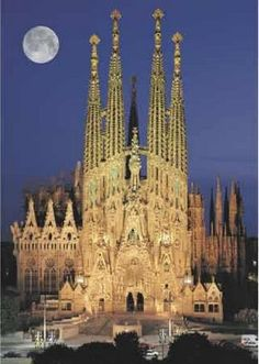 Gaudí's Iglesia de la Sagrada Familia is located in Barcelona, Spain. This is the same church from the Alan Parsons song and concept album.
