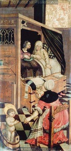 FCBTC / Gothic Furniture: GEBURT MARIENS EL NACIMIENTO DE SAN NICOLAS 1514
