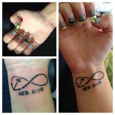 Batman nails & infinity anchor tattoo with Hebrew 6:19 !