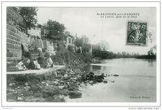 17 - T4857CPA - SAINT SAVINIEN SUR CHARENTE - Le lavoir - Quai de la grue - Très bon état - CHARENTE-MARITIME