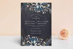 """Enchanting Plum"" - Floral & Botanical Foil-pressed Wedding Invitations in Deep Plum by Phrosne Ras."