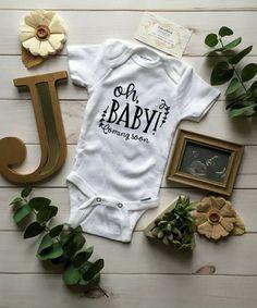 OH Baby Gerber® ONESIE® Bodysuit, Pregnancy Announcement, Baby Announcement, Announcement ONESIE®, Announcing Pregnancy, Pregnancy Shirt #affiliate #pregnancy #baby #maternity