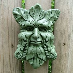 Concrete Greenman Plaque Moss Garden Sculpture by mygardengoddess - Modern Garden Plaques, Garden Signs, Moss Garden, Garden Art, Indoor Garden, Garden Ideas, Green Man, Tree Tattoo Men, Wood Carving Faces