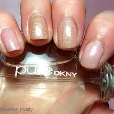 Rose Gold nails, classic and feminine. This is Red Carpet Manicure Blase Beauty and WOW glitter accent #RCMNailedIt