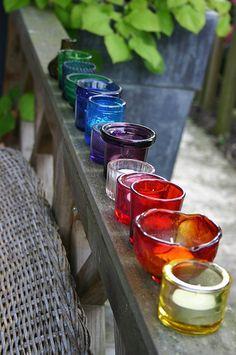 rainbow votives