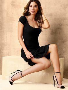Lovely woman wearing Vic Secret's Cap-toe Pump...GORGEOUS HEELS