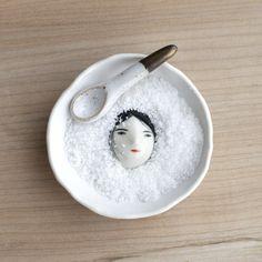 Buried Under the Snow Salt Dish Set 9  de  Rami Skim http://shop.ramiskim.com/category/ceramics