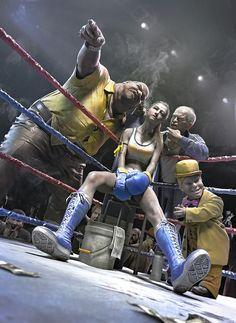 girl 3D model, fight in the dark guang yang